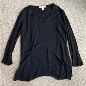Michael Kors black layered v neck